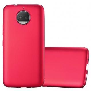 Cadorabo Hülle für Motorola MOTO G5S PLUS in METALL ROT Hardcase Handyhülle aus Plastik gegen Kratzer und Stöße Schutzhülle Bumper Ultra Slim Back Case Hard Cover