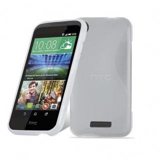Cadorabo Hülle für HTC Desire 320 in HALB TRANSPARENT ? Handyhülle aus flexiblem TPU Silikon ? Silikonhülle Schutzhülle Ultra Slim Soft Back Cover Case Bumper