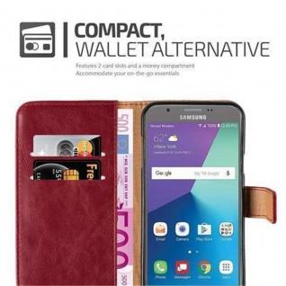 Cadorabo Hülle für Samsung Galaxy J5 2017 US Version in WEIN ROT ? Handyhülle mit Magnetverschluss, Standfunktion und Kartenfach ? Case Cover Schutzhülle Etui Tasche Book Klapp Style - Vorschau 4