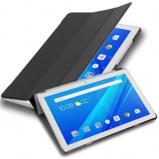 """Cadorabo Tablet Hülle für Lenovo Tab 4 10 (10, 1"""" Zoll) in SATIN SCHWARZ Ultra Dünne Book Style Schutzhülle mit Auto Wake Up und Standfunktion aus Kunstleder"""