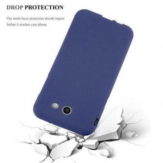 Cadorabo Hülle für Samsung Galaxy J3 2017 US Version in FROST DUNKEL BLAU - Handyhülle aus flexiblem TPU Silikon - Silikonhülle Schutzhülle Ultra Slim Soft Back Cover Case Bumper - Vorschau 5