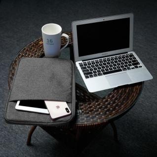 Cadorabo Laptop / Tablet Tasche 14'' Zoll in DUNKEL GRAU ? Notebook Computer Tasche aus Stoff mit Samt-Innenfutter und Fach mit Anti-Kratz Reißverschluss ? Schutzhülle Sleeve Case - Vorschau 5