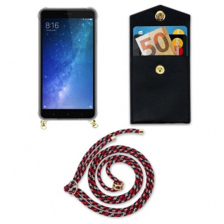 Cadorabo Handy Kette für Xiaomi Mi Max 2 in ROT BLAU GELB - Silikon Necklace Umhänge Hülle mit Gold Ringen, Kordel Band Schnur und abnehmbarem Etui ? Schutzhülle - Vorschau 5