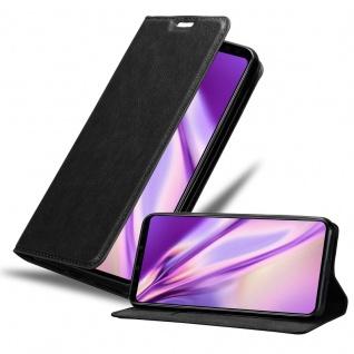 Cadorabo Hülle für Google Pixel 4 XL in NACHT SCHWARZ - Handyhülle mit Magnetverschluss, Standfunktion und Kartenfach - Case Cover Schutzhülle Etui Tasche Book Klapp Style