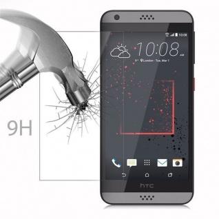Cadorabo Panzer Folie für HTC Desire 530/630 - Schutzfolie in KRISTALL KLAR - Gehärtetes (Tempered) Display-Schutzglas in 9H Härte mit 3D Touch Kompatibilität - Vorschau 3