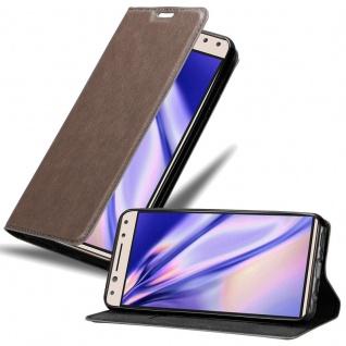 Cadorabo Hülle für Alcatel 5 in KAFFEE BRAUN Handyhülle mit Magnetverschluss, Standfunktion und Kartenfach Case Cover Schutzhülle Etui Tasche Book Klapp Style