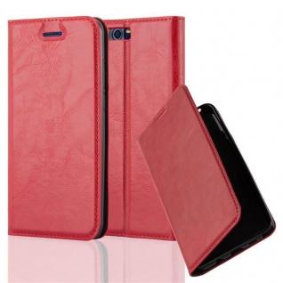 Cadorabo Hülle für Honor 9 in APFEL ROT Handyhülle mit Magnetverschluss, Standfunktion und Kartenfach Case Cover Schutzhülle Etui Tasche Book Klapp Style