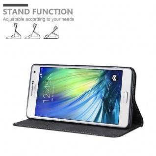 Cadorabo Hülle für Samsung Galaxy A7 2015 in SCHWARZ BRAUN ? Handyhülle mit Magnetverschluss, Standfunktion und Kartenfach ? Case Cover Schutzhülle Etui Tasche Book Klapp Style - Vorschau 2