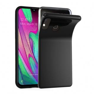 Cadorabo Hülle für Samsung Galaxy A40 in SCHWARZ - Handyhülle aus flexiblem TPU Silikon - Silikonhülle Schutzhülle Ultra Slim Soft Back Cover Case Bumper