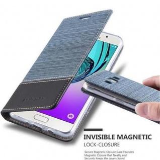 Cadorabo Hülle für Samsung Galaxy J5 2016 in DUNKEL BLAU SCHWARZ - Handyhülle mit Magnetverschluss, Standfunktion und Kartenfach - Case Cover Schutzhülle Etui Tasche Book Klapp Style