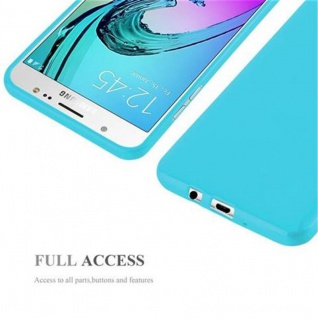 Cadorabo Hülle für Samsung Galaxy J7 2015 in JELLY HELL BLAU - Handyhülle aus flexiblem TPU Silikon - Silikonhülle Schutzhülle Ultra Slim Soft Back Cover Case Bumper - Vorschau 4