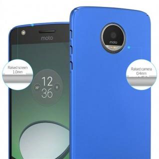 Cadorabo Hülle für Motorola MOTO Z in METALL BLAU ? Hardcase Handyhülle aus Plastik gegen Kratzer und Stöße ? Schutzhülle Bumper Ultra Slim Back Case Hard Cover - Vorschau 4