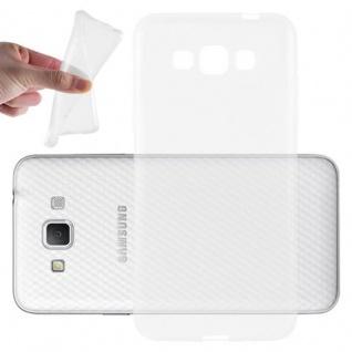 Cadorabo Hülle für Samsung Galaxy GRAND 3 in VOLL TRANSPARENT - Handyhülle aus flexiblem TPU Silikon - Silikonhülle Schutzhülle Ultra Slim Soft Back Cover Case Bumper