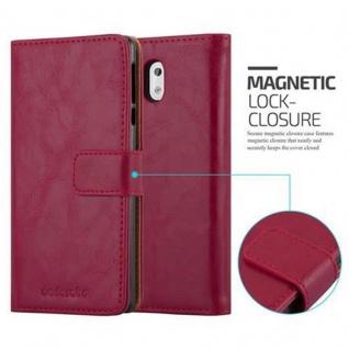 Cadorabo Hülle für Nokia 3 2017 in WEIN ROT ? Handyhülle mit Magnetverschluss, Standfunktion und Kartenfach ? Case Cover Schutzhülle Etui Tasche Book Klapp Style - Vorschau 2