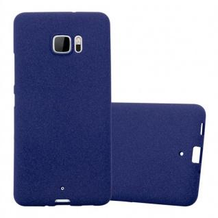 Cadorabo Hülle für HTC U ULTRA in FROST DUNKEL BLAU - Handyhülle aus flexiblem TPU Silikon - Silikonhülle Schutzhülle Ultra Slim Soft Back Cover Case Bumper