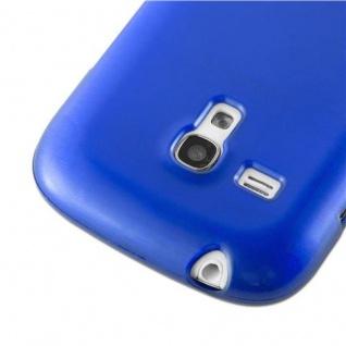 Cadorabo Hülle für Samsung Galaxy S3 MINI in BLAU - Handyhülle aus flexiblem TPU Silikon - Silikonhülle Schutzhülle Ultra Slim Soft Back Cover Case Bumper - Vorschau 4