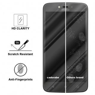 Cadorabo Panzer Folie für Motorola MOTO C - Schutzfolie in KRISTALL KLAR - Gehärtetes (Tempered) Display-Schutzglas in 9H Härte mit 3D Touch Kompatibilität - Vorschau 3