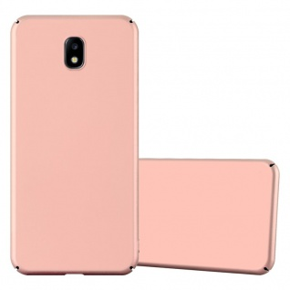 Cadorabo Hülle für Samsung Galaxy J7 2017 in METALL ROSÉ GOLD Hardcase Handyhülle aus Plastik gegen Kratzer und Stöße Schutzhülle Bumper Ultra Slim Back Case Hard Cover