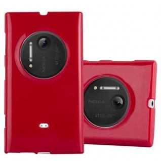 Cadorabo Hülle für Nokia Lumia 1020 in JELLY ROT ? Handyhülle aus flexiblem TPU Silikon ? Silikonhülle Schutzhülle Ultra Slim Soft Back Cover Case Bumper