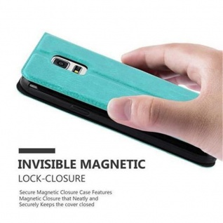 Cadorabo Hülle für Samsung Galaxy S5 MINI / S5 MINI DUOS in MINT TÜRKIS - Handyhülle mit Magnetverschluss, Standfunktion und 2 Sichtfenstern - Case Cover Schutzhülle Etui Tasche Book Klapp Style - Vorschau 5