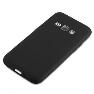 Cadorabo Hülle für Samsung Galaxy J1 2016 in CANDY SCHWARZ - Handyhülle aus flexiblem TPU Silikon - Silikonhülle Schutzhülle Ultra Slim Soft Back Cover Case Bumper - Vorschau 4