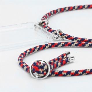 Cadorabo Handy Kette für Huawei MATE 20 in ROT BLAU GELB - Silikon Necklace Umhänge Hülle mit Silber Ringen, Kordel Band Schnur und abnehmbarem Etui - Schutzhülle - Vorschau 2