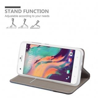 Cadorabo Hülle für HTC Desire 10 PRO in DUNKEL BLAU SCHWARZ - Handyhülle mit Magnetverschluss, Standfunktion und Kartenfach - Case Cover Schutzhülle Etui Tasche Book Klapp Style - Vorschau 3