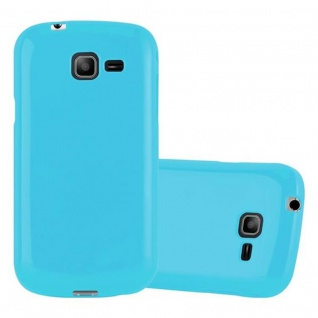 Cadorabo Hülle für Samsung Galaxy TREND LITE in JELLY HELL BLAU ? Handyhülle aus flexiblem TPU Silikon ? Silikonhülle Schutzhülle Ultra Slim Soft Back Cover Case Bumper