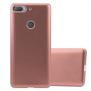 Cadorabo Hülle für HTC Desire 12 PLUS in METALLIC ROSÉ GOLD Handyhülle aus flexiblem TPU Silikon Silikonhülle Schutzhülle Ultra Slim Soft Back Cover Case Bumper