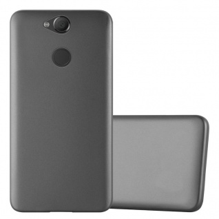Cadorabo Hülle für Sony Xperia XA2 in METALLIC GRAU - Handyhülle aus flexiblem TPU Silikon - Silikonhülle Schutzhülle Ultra Slim Soft Back Cover Case Bumper