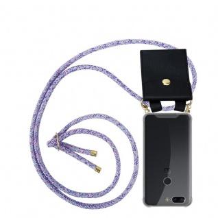 Cadorabo Handy Kette für OnePlus 5T in UNICORN Silikon Necklace Umhänge Hülle mit Gold Ringen, Kordel Band Schnur und abnehmbarem Etui Schutzhülle