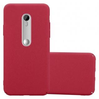 Cadorabo Hülle für Motorola MOTO G3 in FROSTY ROT - Hardcase Handyhülle aus Plastik gegen Kratzer und Stöße - Schutzhülle Bumper Ultra Slim Back Case Hard Cover