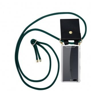 Cadorabo Handy Kette für OnePlus 5 in ARMEE GRÜN - Silikon Necklace Umhänge Hülle mit Gold Ringen, Kordel Band Schnur und abnehmbarem Etui ? Schutzhülle