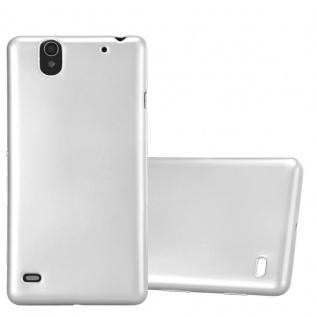 Cadorabo Hülle für Sony Xperia C4 in METALLIC SILBER - Handyhülle aus flexiblem TPU Silikon - Silikonhülle Schutzhülle Ultra Slim Soft Back Cover Case Bumper