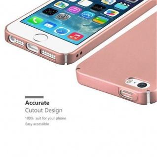 Cadorabo Hülle für Apple iPhone 5 / iPhone 5S / iPhone SE in METALL ROSE GOLD - Hardcase Handyhülle aus Plastik gegen Kratzer und Stöße - Schutzhülle Bumper Ultra Slim Back Case Hard Cover - Vorschau 3