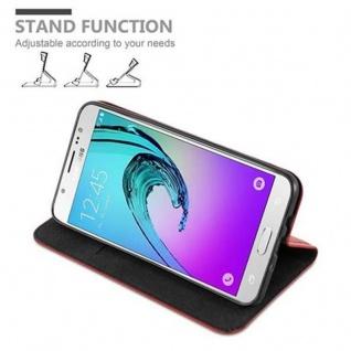Cadorabo Hülle für Samsung Galaxy J7 2016 in APFEL ROT - Handyhülle mit Magnetverschluss, Standfunktion und Kartenfach - Case Cover Schutzhülle Etui Tasche Book Klapp Style - Vorschau 4