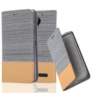 Cadorabo Hülle für Lenovo C2 in HELL GRAU BRAUN Handyhülle mit Magnetverschluss, Standfunktion und Kartenfach Case Cover Schutzhülle Etui Tasche Book Klapp Style