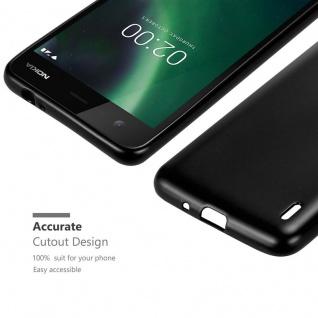 Cadorabo Hülle für Nokia 2 2017 in METALLIC SCHWARZ - Handyhülle aus flexiblem TPU Silikon - Silikonhülle Schutzhülle Ultra Slim Soft Back Cover Case Bumper - Vorschau 5