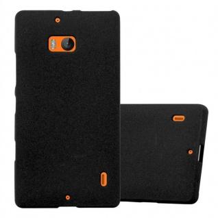 Cadorabo Hülle für Nokia Lumia 929 / 930 in FROST SCHWARZ - Handyhülle aus flexiblem TPU Silikon - Silikonhülle Schutzhülle Ultra Slim Soft Back Cover Case Bumper