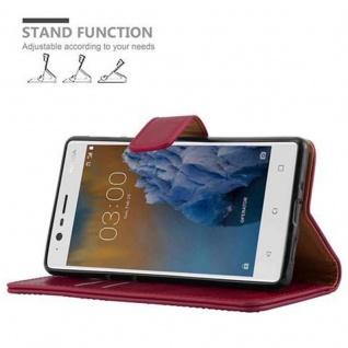 Cadorabo Hülle für Nokia 3 2017 in WEIN ROT ? Handyhülle mit Magnetverschluss, Standfunktion und Kartenfach ? Case Cover Schutzhülle Etui Tasche Book Klapp Style - Vorschau 5