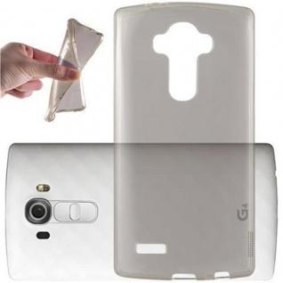 Cadorabo Hülle für LG G4 / G4 PLUS in TRANSPARENT SCHWARZ - Handyhülle aus flexiblem TPU Silikon - Silikonhülle Schutzhülle Ultra Slim Soft Back Cover Case Bumper