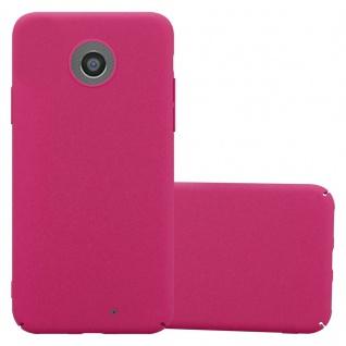 Cadorabo Hülle für Motorola MOTO G2 in FROSTY PINK - Hardcase Handyhülle aus Plastik gegen Kratzer und Stöße - Schutzhülle Bumper Ultra Slim Back Case Hard Cover
