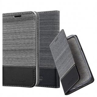 Cadorabo Hülle für WIKO TOMMY 3 in GRAU SCHWARZ - Handyhülle mit Magnetverschluss, Standfunktion und Kartenfach - Case Cover Schutzhülle Etui Tasche Book Klapp Style