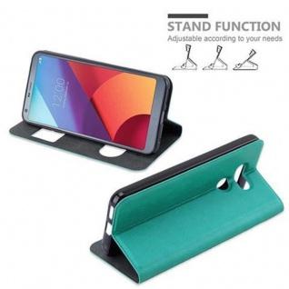 Cadorabo Hülle für LG G6 in MINT TÜRKIS ? Handyhülle mit Magnetverschluss, Standfunktion und 2 Sichtfenstern ? Case Cover Schutzhülle Etui Tasche Book Klapp Style - Vorschau 5