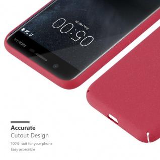 Cadorabo Hülle für Nokia 5 2017 in FROSTY ROT - Hardcase Handyhülle aus Plastik gegen Kratzer und Stöße - Schutzhülle Bumper Ultra Slim Back Case Hard Cover - Vorschau 4