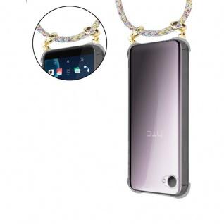 Cadorabo Handy Kette für HTC Desire 12 in RAINBOW - Silikon Necklace Umhänge Hülle mit Gold Ringen, Kordel Band Schnur und abnehmbarem Etui ? Schutzhülle - Vorschau 5