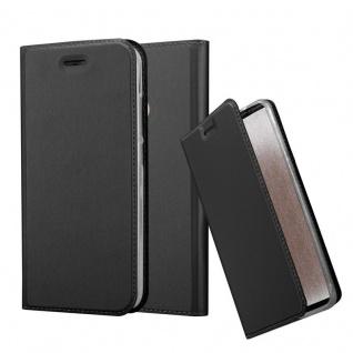 Cadorabo Hülle für Xiaomi Mi A1 / 5X in CLASSY SCHWARZ - Handyhülle mit Magnetverschluss, Standfunktion und Kartenfach - Case Cover Schutzhülle Etui Tasche Book Klapp Style