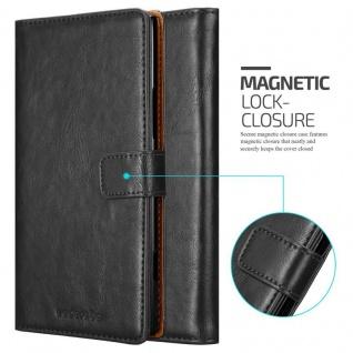 Cadorabo Hülle für Nokia Lumia 1520 in GRAPHIT SCHWARZ ? Handyhülle mit Magnetverschluss, Standfunktion und Kartenfach ? Case Cover Schutzhülle Etui Tasche Book Klapp Style - Vorschau 2
