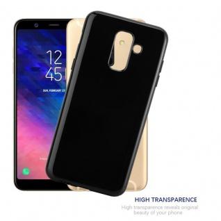 Cadorabo Hülle für Samsung Galaxy A6 PLUS 2018 in SCHWARZ - Handyhülle aus flexiblem TPU Silikon - Silikonhülle Schutzhülle Ultra Slim Soft Back Cover Case Bumper - Vorschau 5