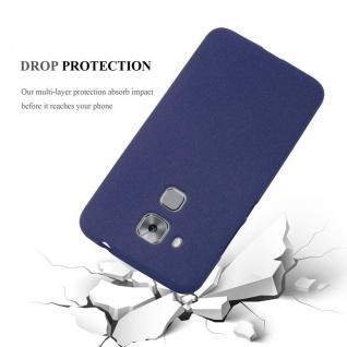 Cadorabo Hülle für Huawei NOVA PLUS in FROST DUNKEL BLAU - Handyhülle aus flexiblem TPU Silikon - Silikonhülle Schutzhülle Ultra Slim Soft Back Cover Case Bumper - Vorschau 5